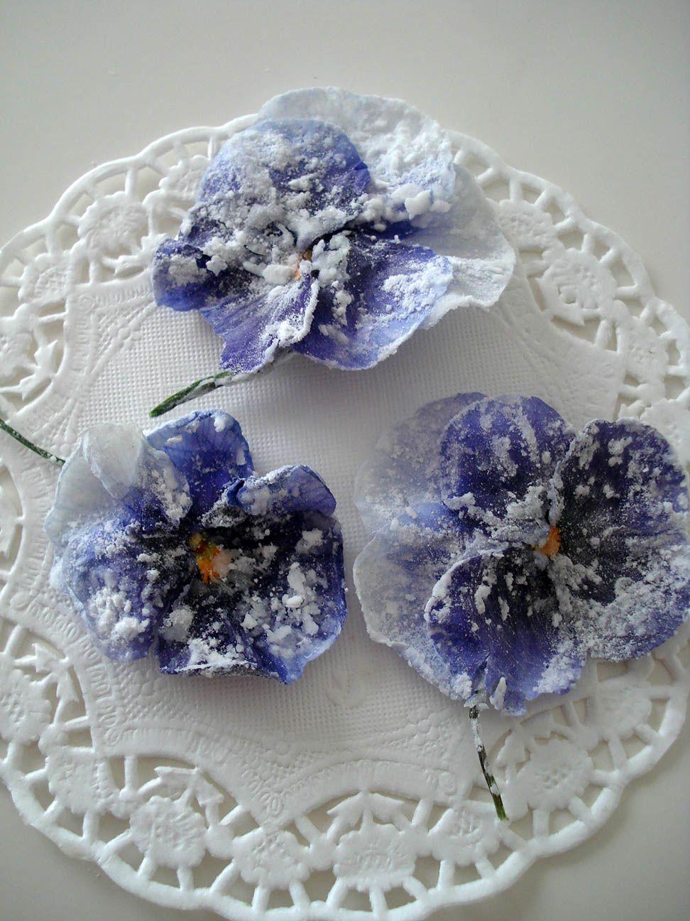 flores escarchadas
