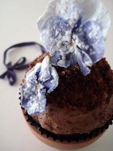 Cupcake maceta de pensamientos