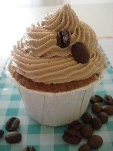Un cupcake de soja café