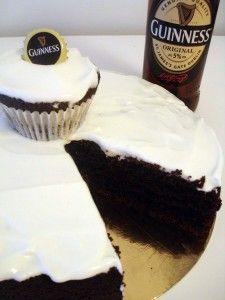 tarta y cupcakes Guinness
