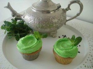 cupcakes de té verde a la menta