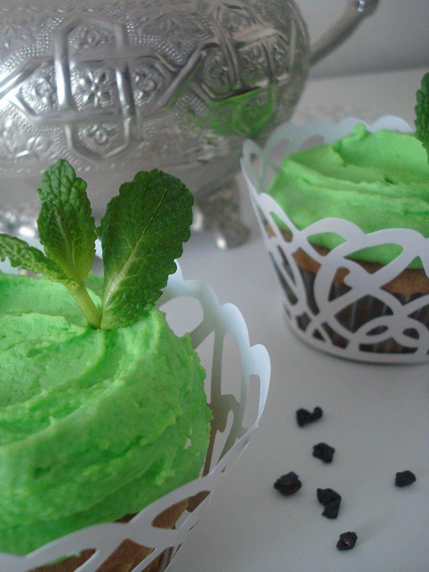 cupcake de té moruno