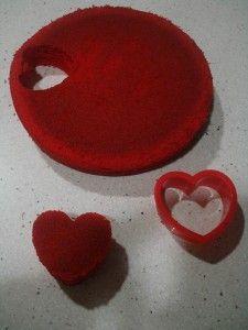 Bizcocho de corazones