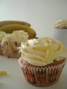 cupcake plátano