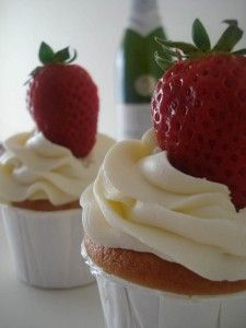cupcakes fresas y champagne