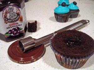 Cupcakes_rellenos_arándanos