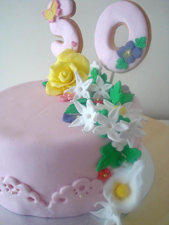 Pastel fondant flores
